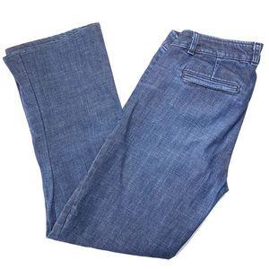 J. Crew Jeans City Fit Blue Denim Size 6 Wide Leg